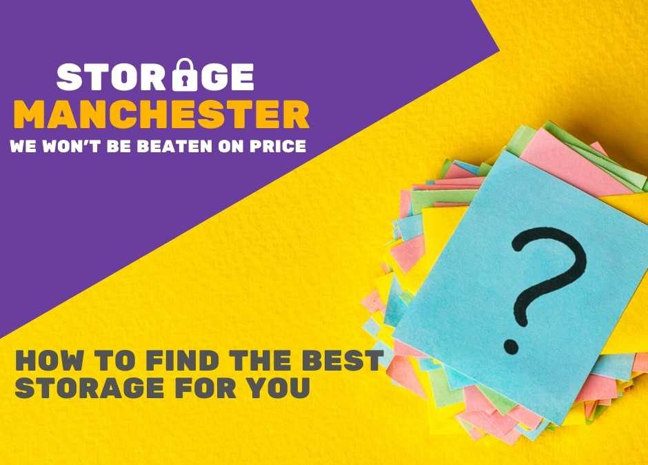 Storage Manchester Guide